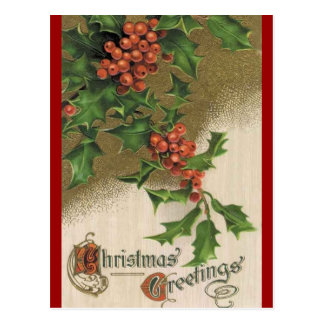 Vintage Holly postcard