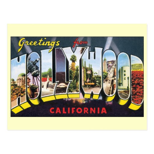 Vintage Hollywood, California, Change of Address Postcard