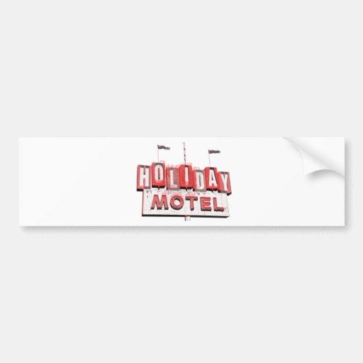 Vintage Hollywood Motel Sign Car Bumper Sticker