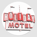 Vintage Hollywood Motel Sign Classic Round Sticker