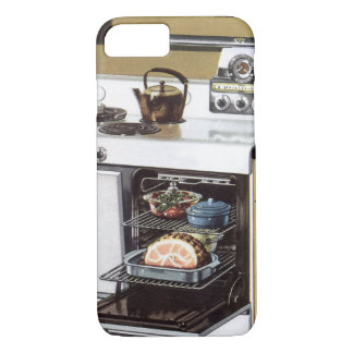 Vintage Home Interior, Mom in the Kitchen Cooking iPhone 7 Case
