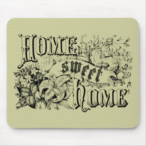 Vintage home sweet home home decor and gifts mouse pads - Home sweet home decorative accessories ...