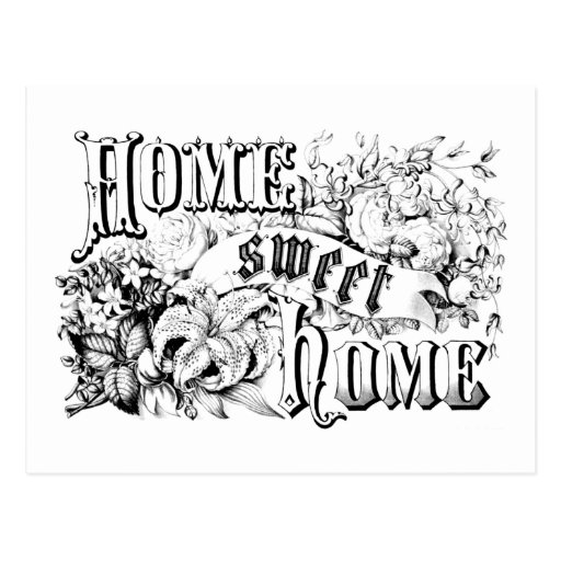 home sweet home interiors vintage home sweet home home decor and gifts postcard zazzle 18435