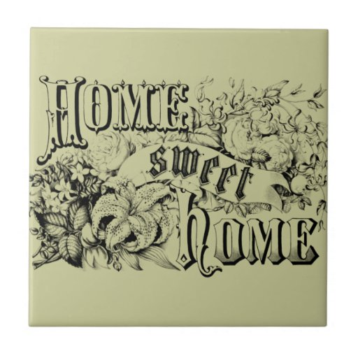 Vintage home sweet home home decor and gifts ceramic tiles for Vintage home decorations uk