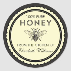 Vintage Homemade Honey Stickers at Zazzle