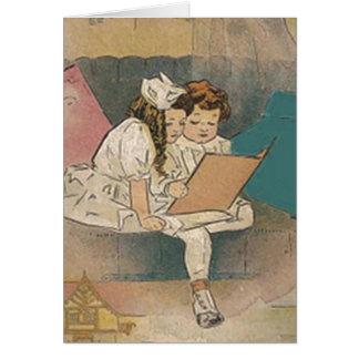 Vintage Homeschooling Children Greeting Card