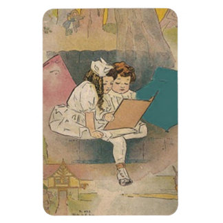 Vintage Homeschooling Kids Premium Flexi Magnet