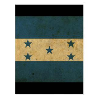 Vintage Honduras Flag Postcard