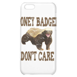 VINTAGE Honey Badger Don't Care Brown iPhone 5C Cover