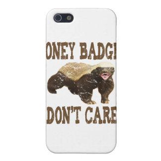 VINTAGE Honey Badger Don't Care Brown iPhone 5 Cases