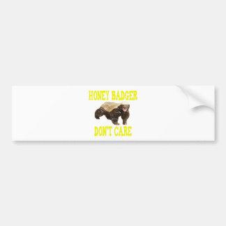 VINTAGE Honey Badger Don't Care Car Bumper Sticker