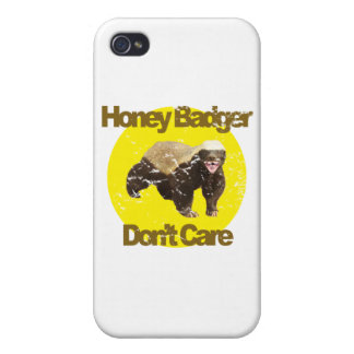 VINTAGE Honey Badger Don't Care iPhone 4 Covers