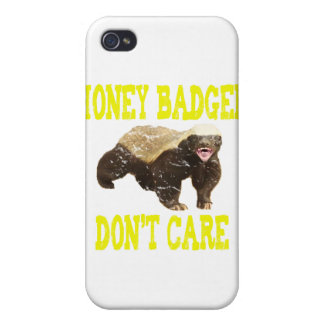VINTAGE Honey Badger Don't Care iPhone 4 Cases