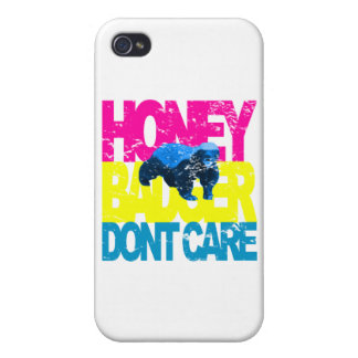 VINTAGE Honey Badger Don't Care SB iPhone 4/4S Cases