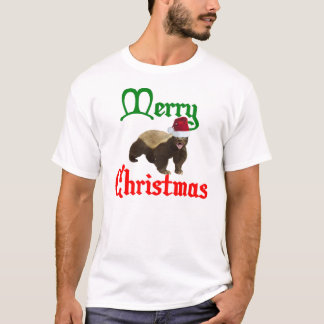Vintage Honey Badger Merry Christmas Shirt