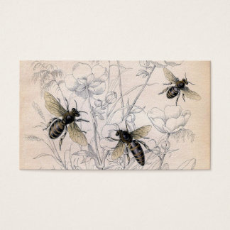 Vintage Honey Bee Art Print Business Card