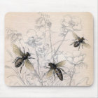 Vintage Honey Bee Art Print Mouse Mat