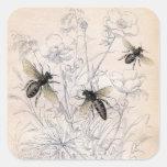 Vintage Honey Bee Art Print Stickers