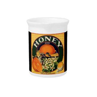 Vintage honey company advertisement ceramic pitche pitcher