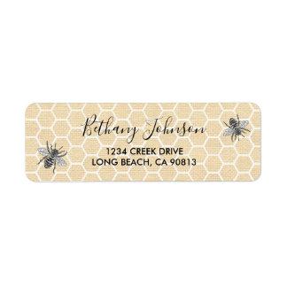 Vintage Honeycomb Honey Bee