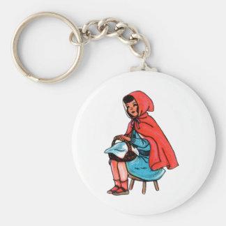 Vintage Hoodie Girl Keychains