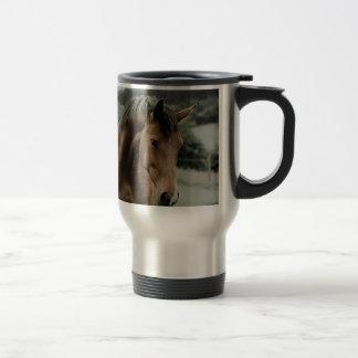 vintage horse animal painting art stainless steel travel mug