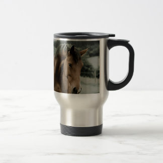 vintage horse animal painting art travel mug