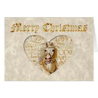 Vintage Horse Christmas Card