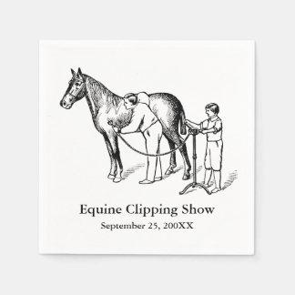 VINTAGE HORSE CLIPPING Custom Paper Napkins