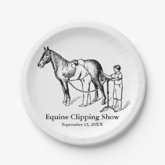 VINTAGE HORSE CLIPPING Custom Paper Plates