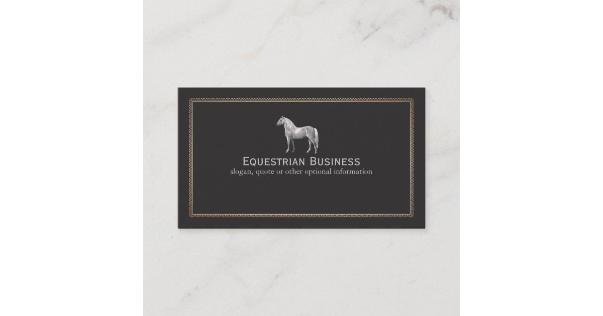 Vintage Horse Etching Equestrian Business Card   Zazzle.co.uk