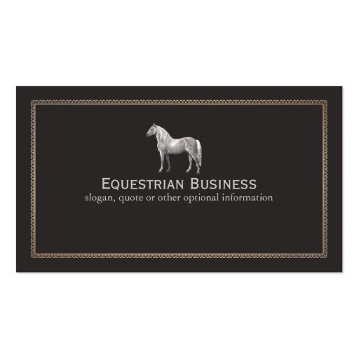 Create your own farrier business cards vintage horse etching equestrian business card reheart Gallery