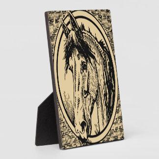 Vintage Horse Head Sketch Display Plaque