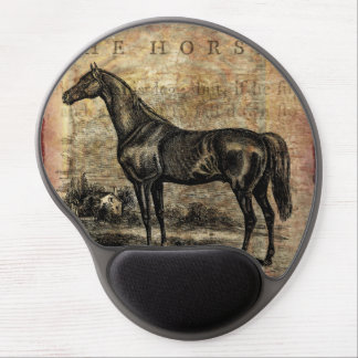 Vintage Horse Thoroughbred and Arabian Horses Gel Mouse Pad