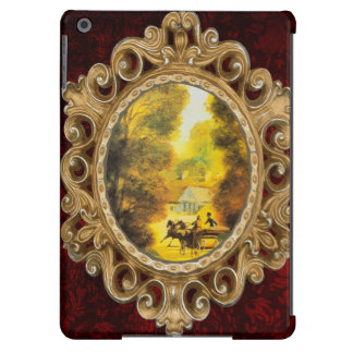 Vintage Horses and Carriage During Autumn iPad Air Covers