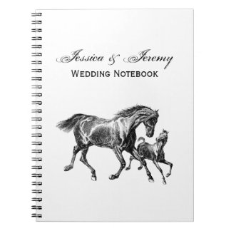 Vintage Horses Mother Baby Foal Notebook