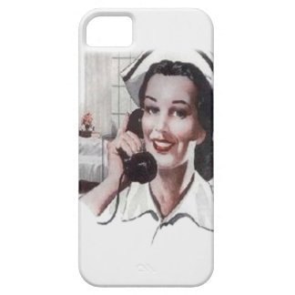 Vintage Hospital Ward Nurse on Telephone iPhone 5 Cover