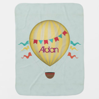 Vintage Hot Air Balloon Baby Blankets