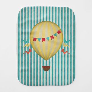 Vintage Hot Air Balloon Burp Cloth