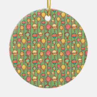 Vintage Hot Air Balloon Christmas Ornament