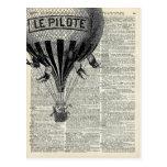 Vintage Hot Air Balloon Postcard