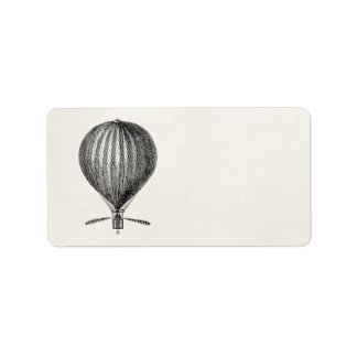 Vintage Hot Air Balloon Retro Airship Balloons Address Label