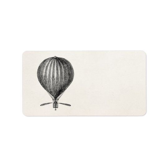 Vintage Hot Air Balloon Retro Airship Balloons Address Label