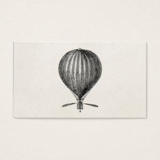 Vintage Hot Air Balloon Retro Airship Balloons Business Card