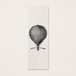 Vintage Hot Air Balloon Retro Airship Balloons Mini Business Card