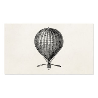 Vintage Hot Air Balloon Retro Airship Balloons Pack Of Standard Business Cards