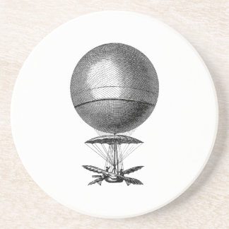 Vintage Hot Air Balloon Retro Airship Old Balloons Drink Coasters