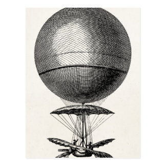 Vintage Hot Air Balloon Retro Airship Old Balloons Postcard