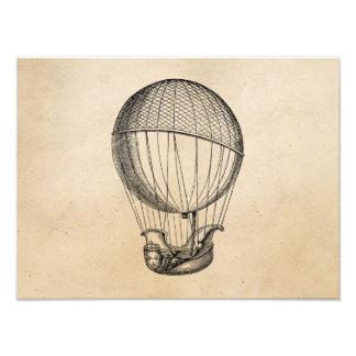 Vintage Hot Air Balloon Retro Boat Ship Balloons Photograph