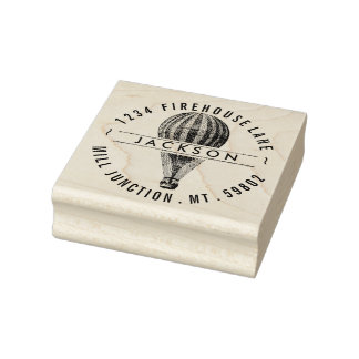 Vintage Hot Air Balloon Return Address Stamp